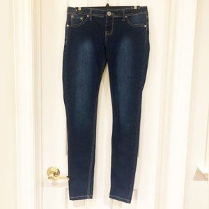 Brazil Stretch Mid Rise Jeans / Jeggings Dark Wash